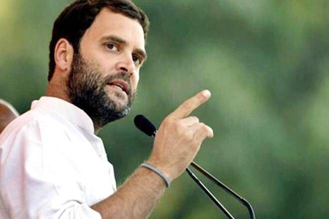 "Rahul Gandhi today targeted Prime Minister Narendra Modi over the IDS scheme alleging that he had failed to act against blackmoney despite his talk of ""56-inch chest"" to fight corruption, and instead brought out a a scheme for turning into white the ill-gotten wealth of ""thieves"". (PTI)"
