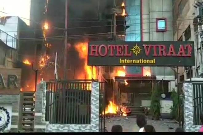 lucknow, lucknow fire, fire in lucknow hotel, lucknow hotel fire, Charbagh Railway station, Charbagh Railway station fire, fire near Charbagh Railway station, lucknow death toll, lucknow fire death toll, hotel virat international, india news