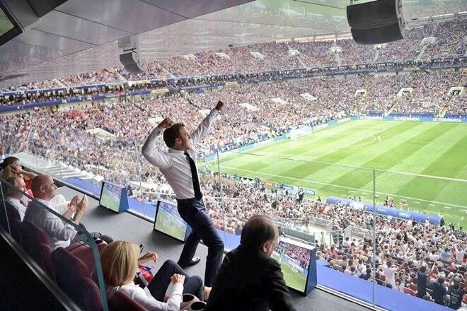 WATCH | FIFA World Cup 2018: President Emmanuel Macron 'cheers' and 'dabs' after France beat Croatia